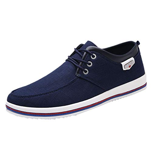 HULKAY Men's New Shoes Casual Large Size Handmade Loafers Shoes for Men(Blue,US:10.5/CN:47) (Alfresco Patio)
