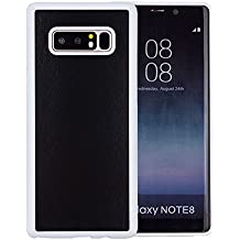 KIKO Samsung Galaxy Note 8 Magic Case Cover - Anti-Gravity Material Sticks to Smooth Surface - Protector Skin Anti Scratch Abrasion Resistant Impact Defender Drop Protective - Sticky (White)