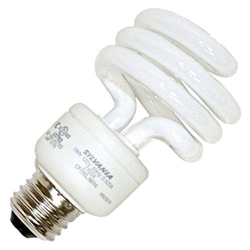 (OSRAM Sylvania GIDDS-611102 120V Dulux El Spiral Compact Fluorescent Lamp, Super Mini, 19W, 2700K, Medium Base)