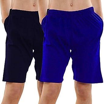 KIKFIT Hombre Jersey Pantalones Cortos de casa Pijama Pantalones Pack Doble Pijama Adulto - 4XL, Royal & Navy: Amazon.es: Ropa y accesorios