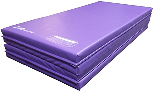 Z-Athletic Folding Panel Mats for Gymnastics, Martial Arts, Tumbling (4ft x 6ft x 2in, Purple)