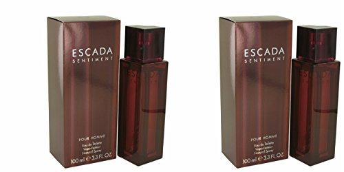 Men Cologne For Escada (Escåda Sêntiment Colognê For Men 3.4 oz Eau De Toilette Spray (2PCS) + a Free Vial)
