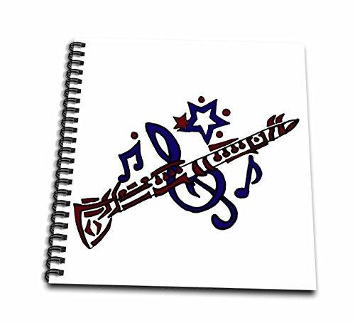 Libro de dibujo con diseño de rosas en 3D para clarinete artístico tribal