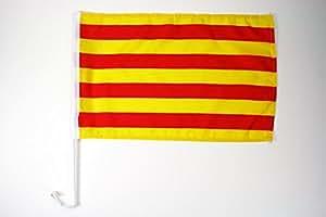 AZ FLAG Bandera de Coche de CATALUÑA 45x30cm - BANDERINA para Auto CATALANA - Catalunya 30 x 45 cm