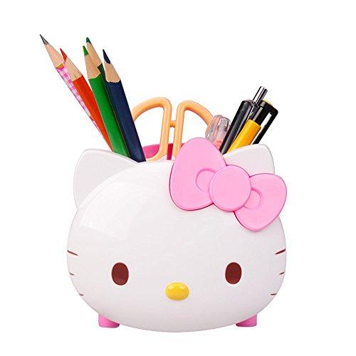 Cute Hello kitty Pen Holder Pen Container Desk Organizer ...