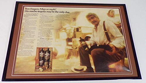 1976 Two Fingers Tequila 12x18 Framed ORIGINAL Vintage Advertisin​g Display (Two Fingers Tequila)