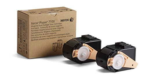 Genuine Xerox Magenta Toner Cartridge for the Phaser 7100, 2-Pack, 106R02603 by Xerox