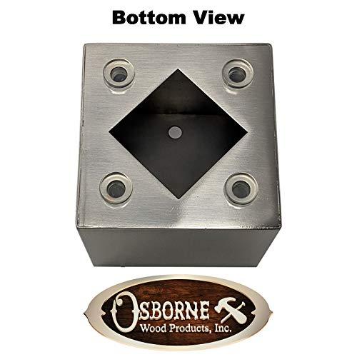 4'' Madison Vanity Foot (Hollow) (Brushed Aluminum Finish) by Osborne Wood Products, Inc (Image #1)