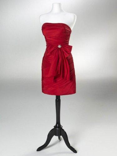 BRIDE kurze GEORGE mit Ballkleid Ausschnitt Abendkleid Rot Herz Bow 7gwRPd