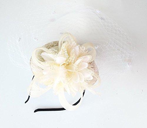 24772c0324b PREV NEXT Home — Coolwife Fascinator Hats Pillbox Hat British Bowler Hat  Flower Veil Wedding ...