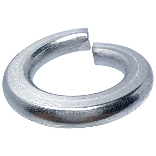 Lock 4 Finishes (#4 Medium Split Lock Washers, Stainless Steel 18-8, Plain Finish, Quantity 100)