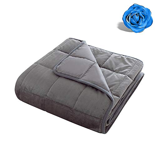 Cheap Grey Weighted Blanket Calm Sleeping 4.0 Heavy Blanket | 100% Cotton Material with Glass Beads 100% Cotton Weighted Blanket Reversible Gray Weighted Blanket Super Soft (15 lbs 48