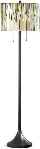 HOMEGLAM Barossa Modern Tiffany Floor Lamp, Tiffany Lamp, Floor Lamp – Green