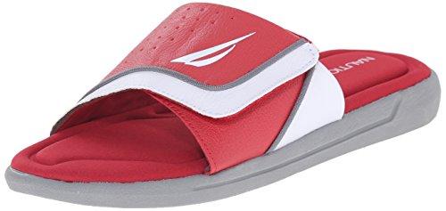 Sandalo Rosso Da Uomo Scorrevole In Bilico Nautica