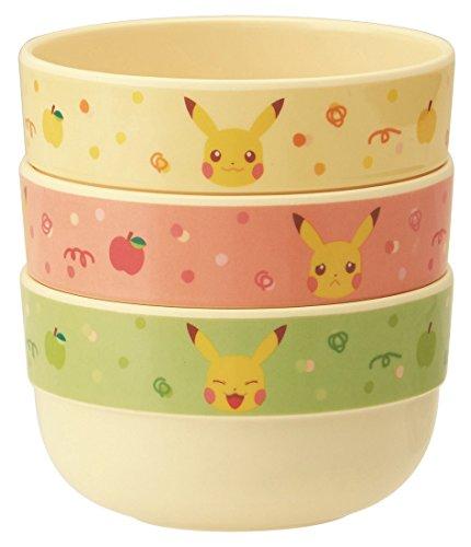 Skater melamine Bowl Set 3P Pokemon Pikachu Apple]()