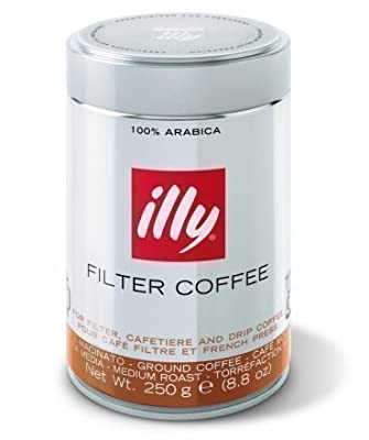 illy Caffe Normale Drip Grind Coffee (Medium Roast, Blue Band), 8.8-Ounce