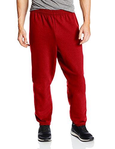 Hanes Men's EcoSmart Fleece Sweatpant, Deep Red, X-Large (Pack of 2) (Hanes Red Fleece)