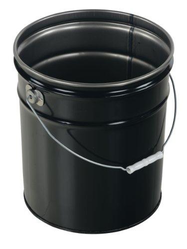 Vestil PAIL-STL-RI-UN Steel Pail with Handle, 5 gallon Capacity, Black by Vestil (Image #2)