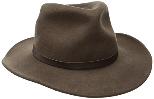 Woolrich Men's Crush Felt Outback Hat, Khaki, Large (Felt Fedora Hats)
