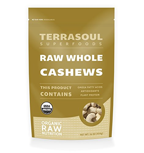 Terrasoul Superfoods Organic Raw Whole Cashews, 16 Ounce (Raw Nuts Mix compare prices)