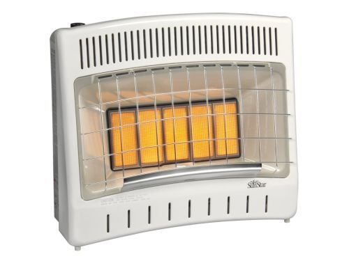 - Thermostat Control 30000 BTU Infrared Radiant NG Vent Free Heater