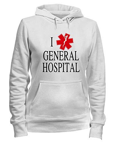 LOVE Felpa HOSPITAL I Cappuccio GENERAL TLOVE0024 Bianca Donna W7nXr7qS