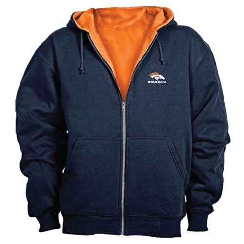 Dunbrooke NFL Craftsman Full Zip Thermal Hoodie, Denver Broncos - - Denver Broncos Orange Sweatshirt