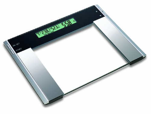HOMEIMAGE Ultra wide Glass Body Fat/Hydration Monitor/Bath Scale - 440 lbs. by HOMEIMAGE