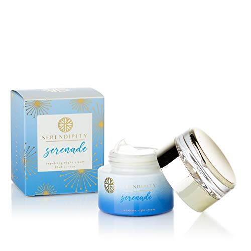 - Serendipity Serenade Night Cream - Anti Aging Moisturizing Cream With Jojoba Seed Oil, and Natural Extracts, 1 oz / 30 ML