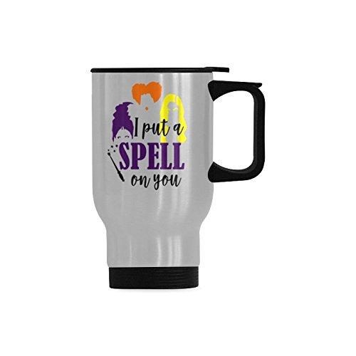 Travel Coffee Mug Halloween Coffee Mug - I Put A Spell On You Water Coffee Cup Stainless Steel Tea Cup 14 -