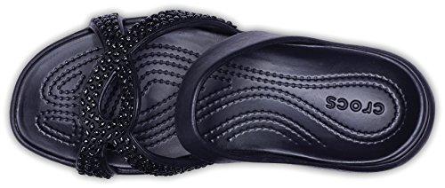 Sandal Meleen Twist Black Crocs Diamante wHOqt