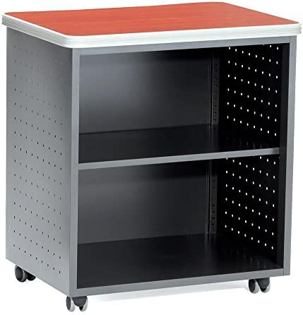 OFM Mesa Series Model 66745 Wheeled Mobile Utility Station with Shelf and Laminate Top, Maple