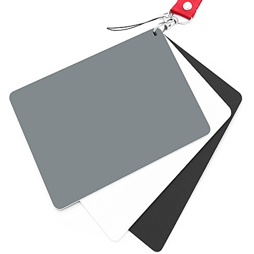 Anwenk Grey Card White Balance Card 18% Exposure Photography Card 5X4 Custom Calibration Camera Checker Video, DSLR and -