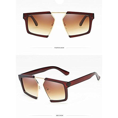 De De De Z 65 Gafas amp;HA Retro Mm Grande Forma De Polarizadas De Mariposa Macho Gray Y Gafas Gradiente Black De Lente Sol Brown Brown Marco Hembra Gafas 0x6UwrqZ0