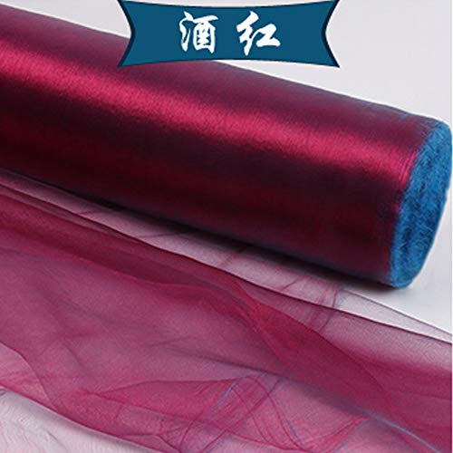- High Quality | Fabric | 5meters/lot Wedding Decoration Sheer Organza Fabric 24 Color Party Celebration Chair SheerGauza Cloth DIY Disposable Supplies | by AQANATURE