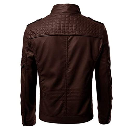 41LyLwgFquL. SS500  - Blaq Ash Men's Faux Leather Biker Outerwear Jacket