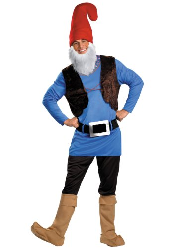 Disguise Men's Papa Gnome Costume, Blue/Brown/Red, -