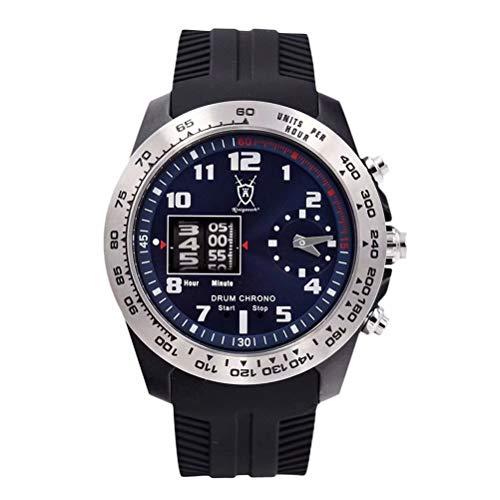 Konigswerk Men s Watch Black with Hands Silicone Band, Quartz Analog Waterproof Wrist Watch Luxury Sports Casual Dress