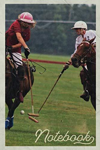 Notebook: Custom polo mallets Gorgeous Composition Book Journal Diary for Men, Women, Teen & Kids Vintage Retro Design Poloist Chukka Players