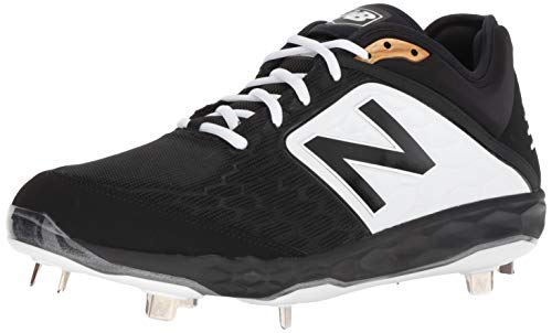 New Balance Men's 3000v4 Baseball Shoe, Black/White, 11 D US