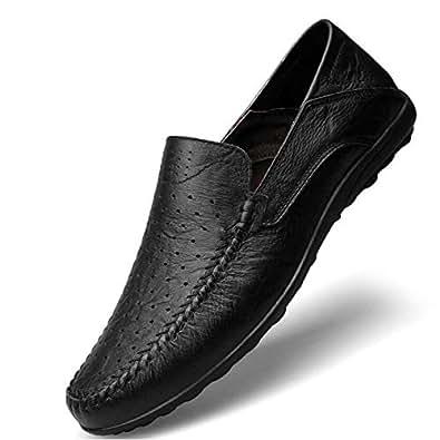 61e5e24f Mocasines cómodos de los Hombres Mocasines y Deslizadores Confortables de Cuero  Primavera/Verano / otoño Zapatos para Caminar, Zapatos de conducción,: ...