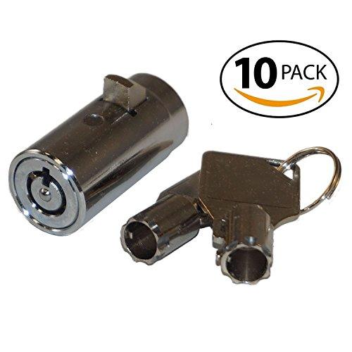 10 - MEI-2501B-KA Vending Machine Lock with Tubular Keyway and Chrome Finish, Keyed Alike #1452