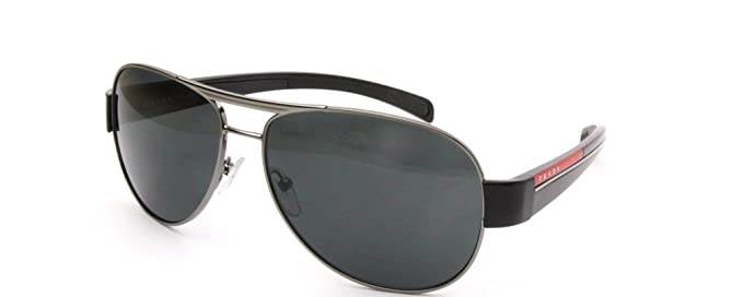 b605083c9c1ad Prada Linea Rossa Men s 51l Gunmetal   Black Frame Grey Lens Metal  Sunglasses