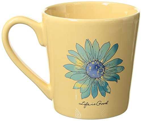 (Life is Good Coffee Mug Everday Collection,Daisy,Happy Yellow,One)