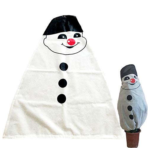 XLYS Christmas Tree Cover,Plant Cover Winter Warm Plant Wrap Blanket Frost Protection Bag for Cold Weather Season Extension Frost Protection (E)