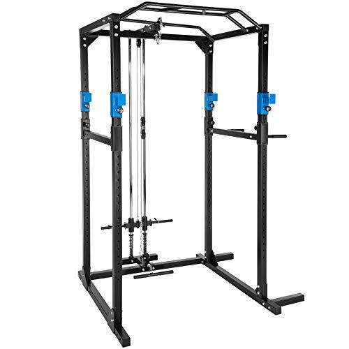 TecTake Multiestación de Fitness para Entrenamiento | 2 puntales ...