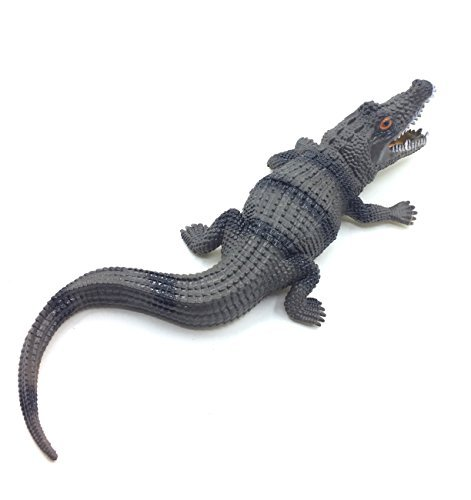 Crocodile Toys Saltwater Crocodile Alligator Toys for Boys for Kids by VINNNY (Black-brown) -