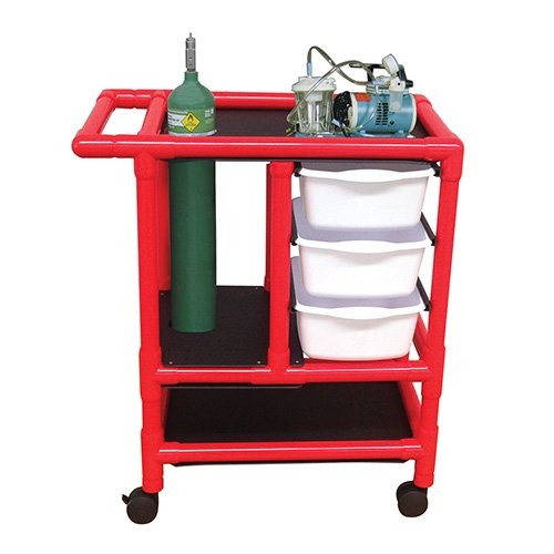 MJM International R1010-3TW Crash Cart, 75 oz Capacity, 36.5