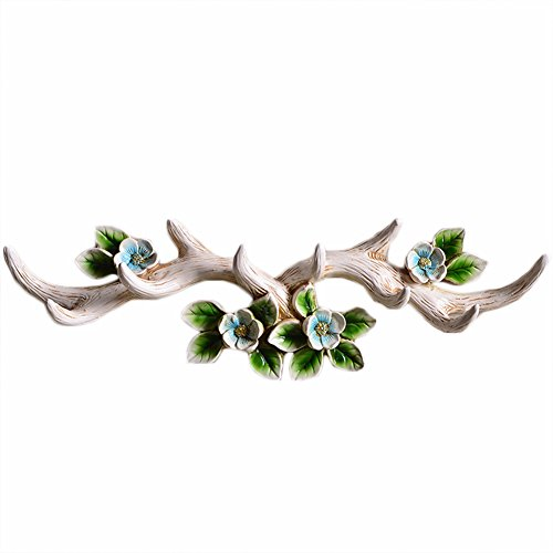 Vintage Cast Deer Antlers Wall Hooks ( 10 HOOKS) Coat Rack Hook for Hat Scarf Bag Key Clothes Bathroom Kitchen Towel Holder Christmas Reindeer Deer Hanger Rack Wall Decoration Wedding Gift (Beige) - Nature Wall Hook