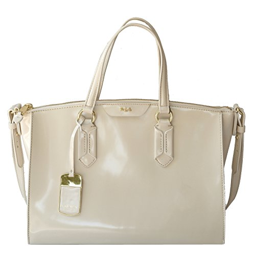 LAUREN Ralph Lauren Winford SP Convertable Satchel Ivory Handbag Purse